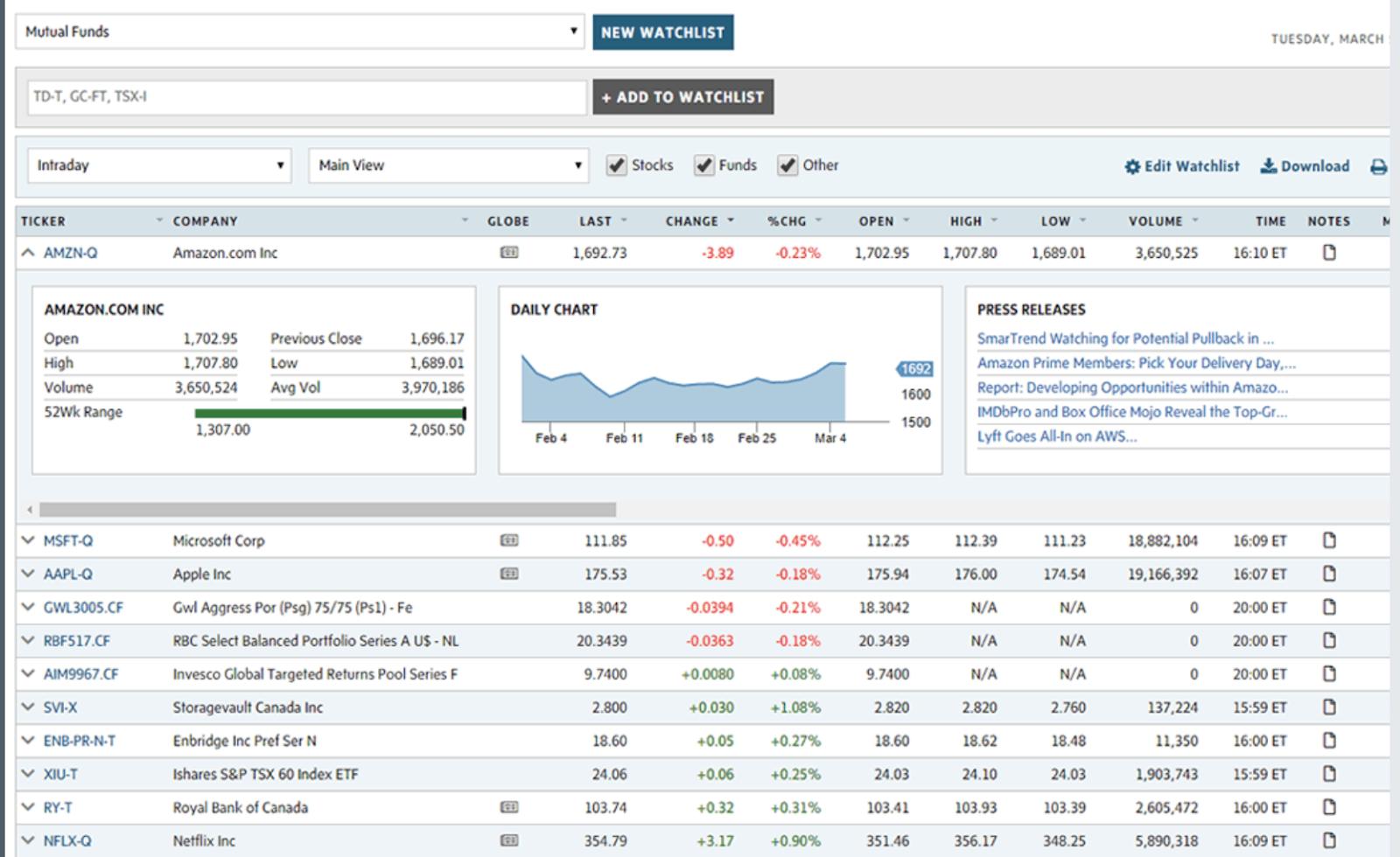 Stock Screener tool