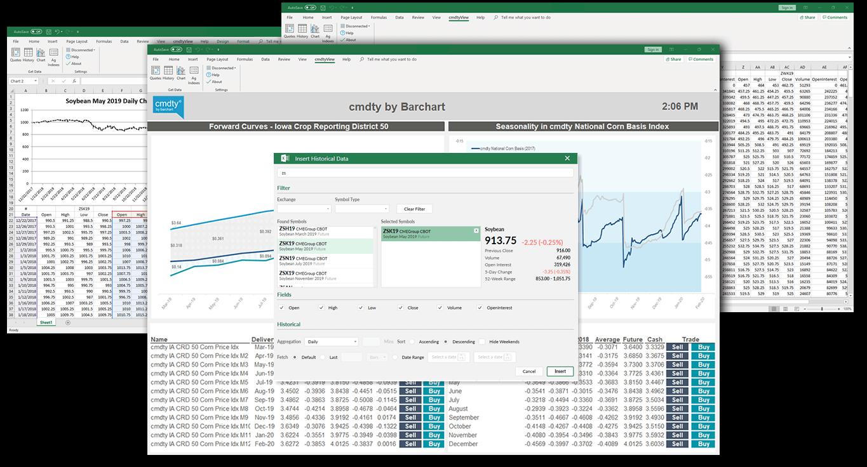 Market Data in Excel
