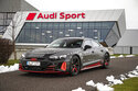 This photo provided by Audi shows the Audi e-tron GT prototype, a fully electric sport sedan that promises equal parts speed and long-distance comfort. (Daniel Wollstein/Audi via AP)