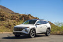 This photo provided by Hyundai shows the 2022 Hyundai Tucson Hybrid SUV, one of the newest hybrid vehicles on sale today. (David Dewhurst/Hyundai Motor America via AP)
