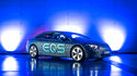 In this photo provide by German car maker Mercedes and taken in March 2021 shows an EQS car in Stuttgart, Germany. Mercedes-EQ will present the all-electric luxury sedan EQS at a digital world premiere on the Mercedes me media online platform on Thursday, April 15, 2021.The car manufacturer Mercedes-Benz is presenting its battery-powered EQS, which the company is using to expand its electric vehicles. (Mercedes via AP)