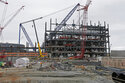 FILE - In this Sept. 21, 2016, file photo, V.C. Summer Nuclear Station's unit two's turbine is under construction near Jenkinsville, S.C., during a media tour of the facility. Investors who lost fortunes in the failure of the multi billion-dollar nuclear reactor construction deal in South Carolina will soon begin to see their portions of a $192 million settlement, under a recently approved distribution. Last week, a federal judge signed off on a plan to disperse the funds among former shareholders in SCANA Corp., the former parent company of South Carolina Electric & Gas. (AP Photo/Chuck Burton, File)