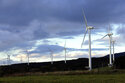 Wind turbines are seen in Rokkasho village, Aomori Prefecture, northern Japan on Nov. 8, 2012. Japan on Friday, Oct. 22, 2021, adopted a new energy policy that pushes for nuclear and renewables as sources of clean energy to achieve the country's pledge of reaching carbon neutrality in 2050.(AP Photo/Koji Sasahara)