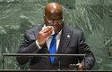 Democratic Republic of Congo President Felix Tshisekedi addresses the 76th Session of the U.N. General Assembly, Tuesday, Sept. 21, 2021. (Eduardo Munoz/Pool Photo via AP)