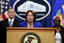 Deputy Attorney General Lisa Monaco announces the recovery of millions of dollars worth of cryptocurrency from the Colonial Pipeline Co. ransomware attacks as she speaks during a news conference with FBI Deputy Director Paul Abbate and acting U.S. Attorney for the Northern District of California Stephanie Hinds at the Justice Department in Washington, Monday, June 7, 2021. (Jonathan Ernst/Pool via AP)