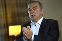 Fugitive ex-auto magnate Carlos Ghosn speaks during an interview with The Associated Press, in Dbayeh, north of Beirut, Lebanon, Tuesday, May 25, 2021. The embattled former chairman of the Renault-Nissan-Mitsubishi alliance dissected his legal troubles in Japan, France and the Netherlands, detailed how he plotted his brazen escape from Osaka, and reflected on his new reality in crisis-hit Lebanon, where he is stuck for the foreseeable future. (AP Photo/Hussein Malla)