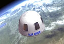 FILE - This undated image provided by Blue Origin shows an illustration of the capsule that will be used to take tourists into space. Blue Origin announced Thursday, July 15, 2021, that instead of an auction winner launching with founder Jeff Bezos on Tuesday, Oliver Daemen, 18, will be on board. The company said he'll be the first paying customer, but did not disclose the cost of his ticket. (Blue Origin via AP)