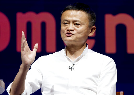 FILE - In this Oct. 12, 2018, file photo, Chairman of Alibaba Group Jack Ma speaks during a seminar in Bali, Indonesia. China's highest-profile entrepreneur, e-commerce billionaire Jack Ma, appeared Wednesday, Jan. 20, 2021, in a video posted online, ending a 2 1/2-month disappearance from public view that prompted speculation about his status and his business empire's future. In the 50-second video, Ma congratulated teachers supported by his charitable foundation and made no mention of his absence from public view and scrutiny of his Alibaba Group and Ant Group by regulators.(AP Photo/Firdia Lisnawati, File)